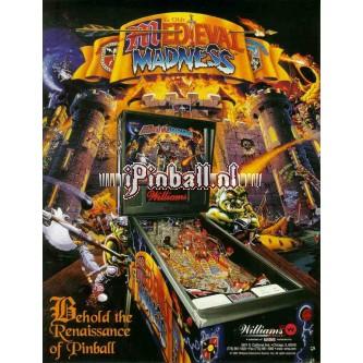 Flipperkast Medieval Madness (goud)