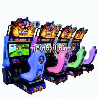 Race game Zilver Sonic & Sega allstars racing 4-player
